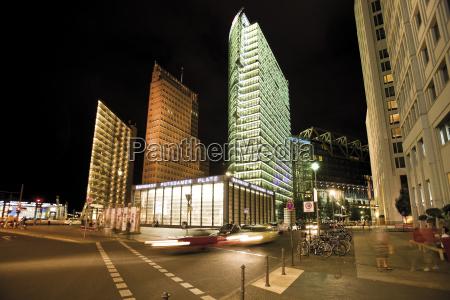 germany berlin potsdamer platz at night