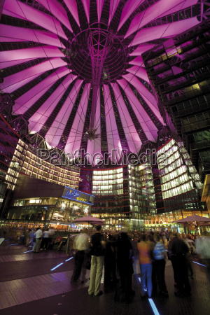 germany berlin potsdamer platz sony center