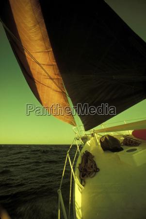sailboat on sea close up