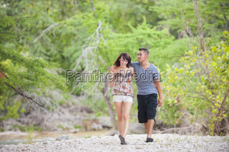 usa texas leakey young couple walking