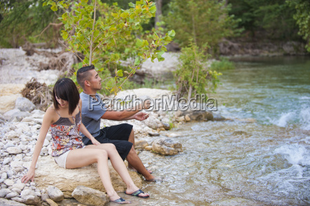 usa texas leakey young couple sitting