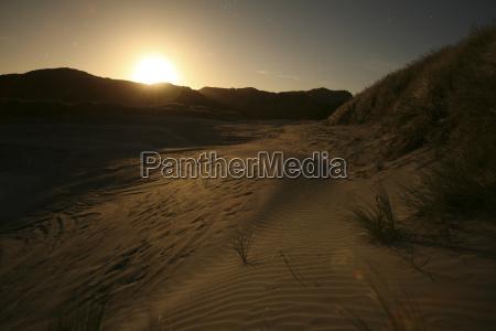 new zealand mountain scenery at sunset