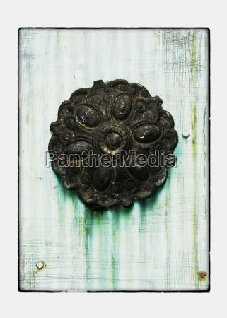 collage of door knob with texture