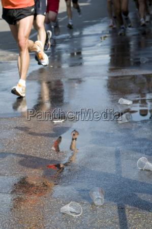 deutschland stuttgart marathonlaeufer niedriger abschnitt