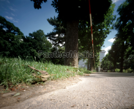 austria vienna path and barrier tape