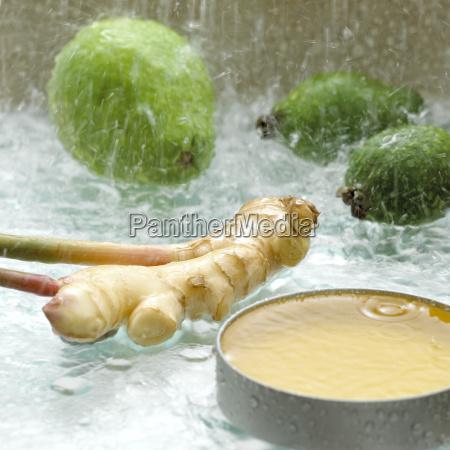 suesses gewuerz regentropfen frische frucht obst