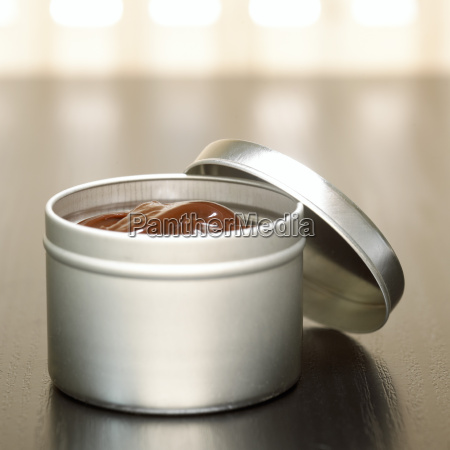 wohlfuehlen metall sahne behaelter topf produkt