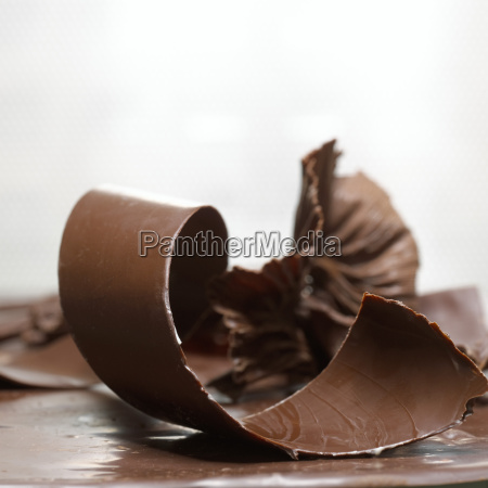 coil of chocolate close up