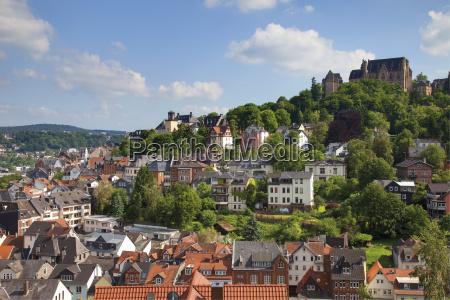europe germany hesse view of marburg