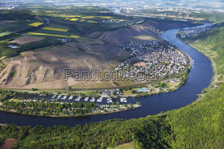 europe germany rhineland palatinate winningen view