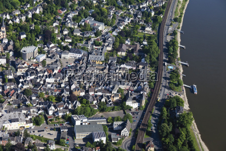europe germany rhineland palatinate linz aerial