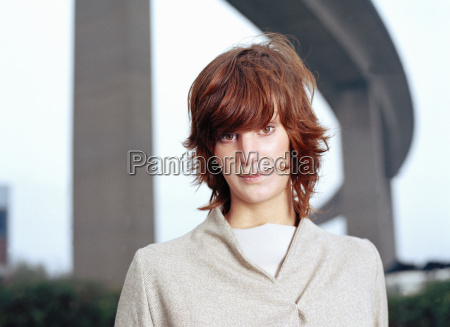 young woman portrait looking to camera