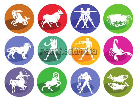 astrologie horoskop icon set