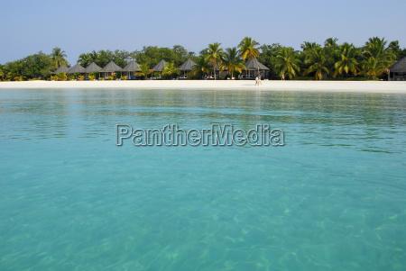 maldive islands ferienort auf dem meer
