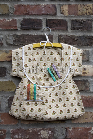bag for clothespins on clothesline close