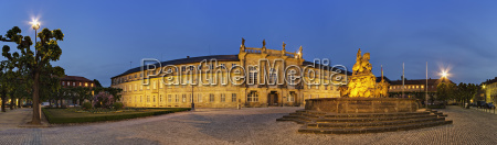 germany bavaria bayreuth view of new
