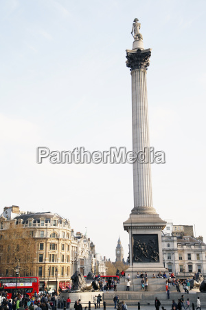 england london view of nelsons column