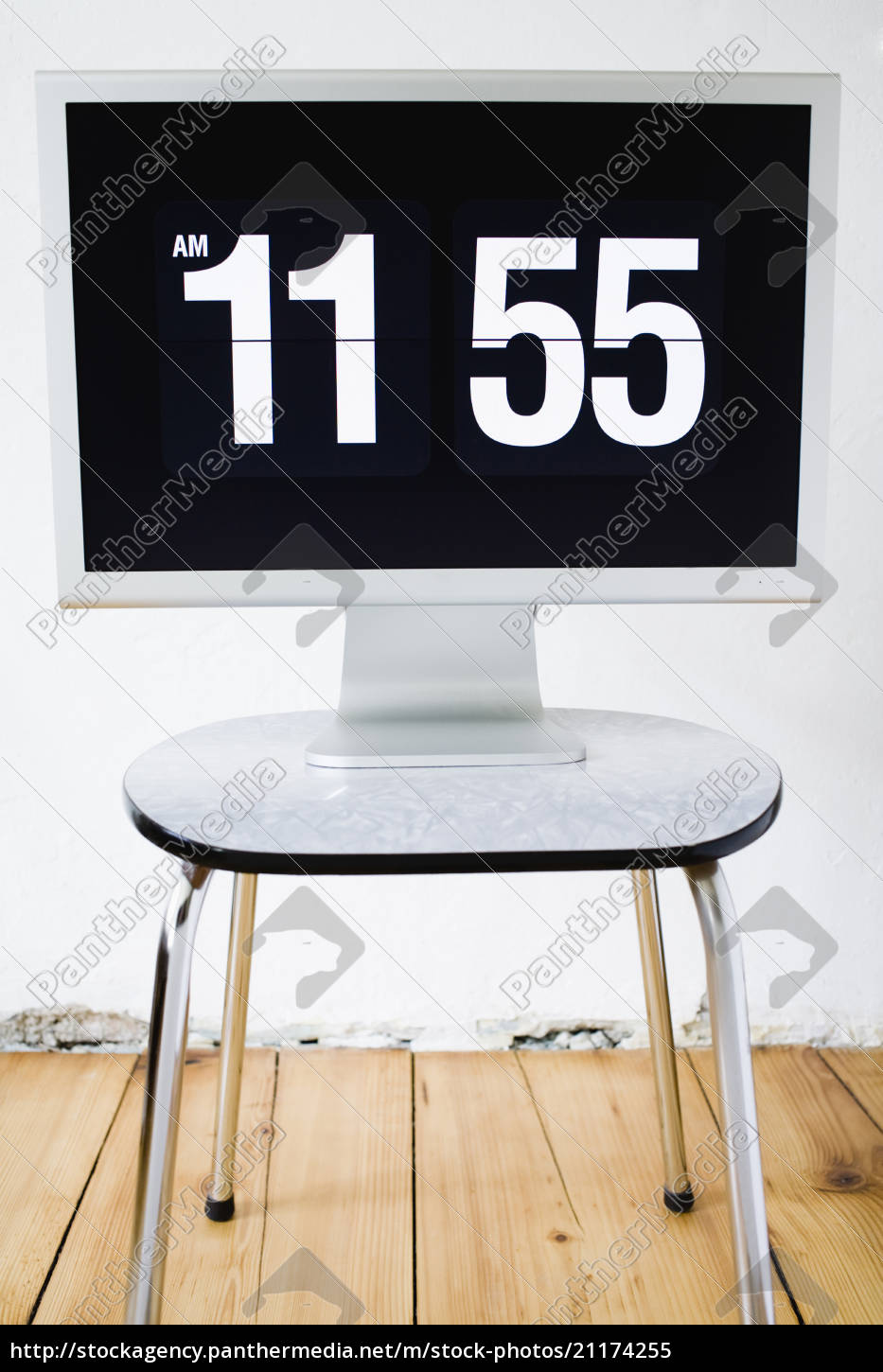 monitor, , screen, showing, time - 21174255