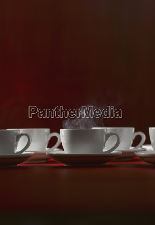 different cups of coffee close up