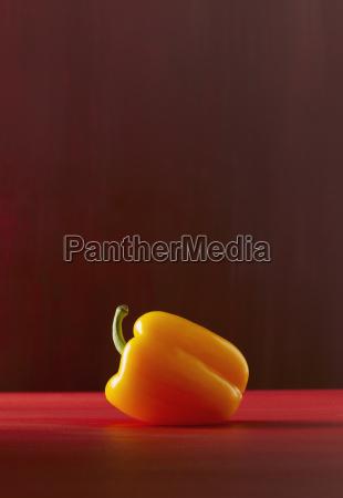 gelber paprika aus der naehe