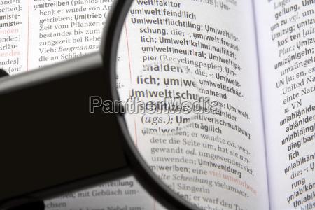 lupe auf enzyklopaedie close up