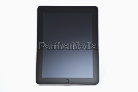 digital tablet against white background