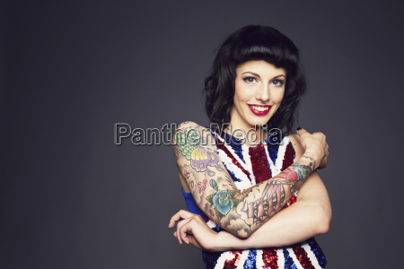 young woman with tattoo on her
