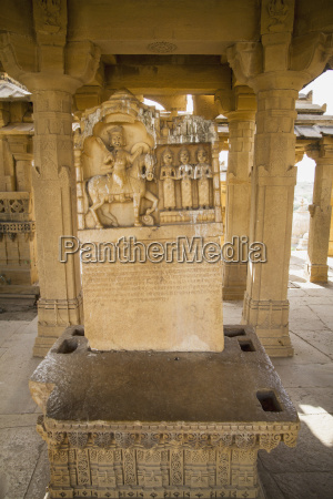 india rajasthan jaisalmer view of tombstones