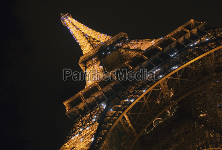 france paris eiffel tower at night