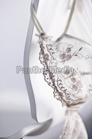 bra with embroidery close up