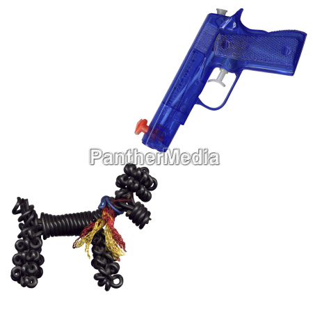 close up of a water pistol