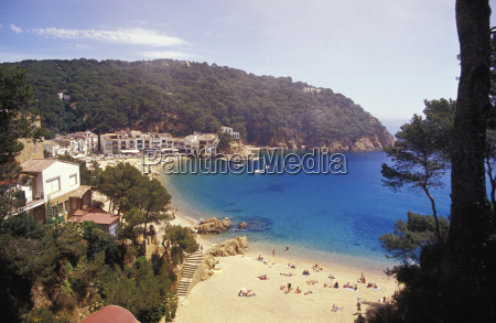 spain catalonia costa brava people at