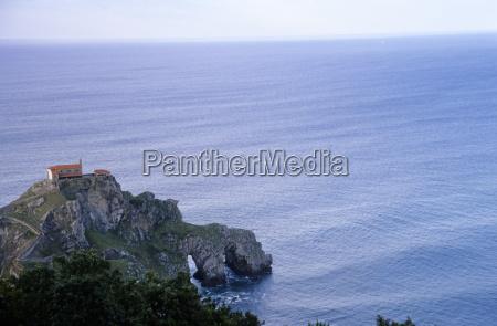 coastline of basque country spain