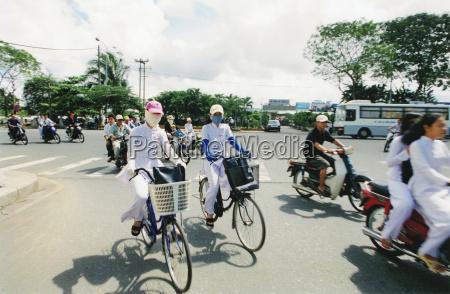 vietnam saigon mopeds and bikes in