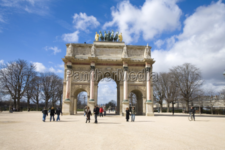 france paris people by arc de