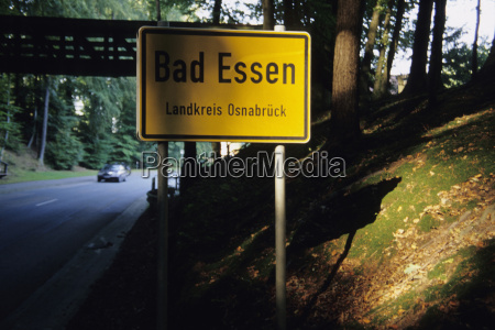 germany bad essen place name sign