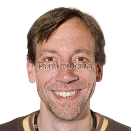 portrait of a man smiling close
