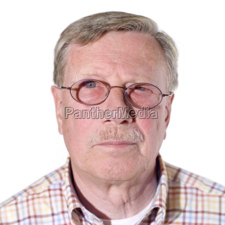 portrait of a senior man close