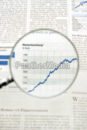 view of graph in newspaper trough