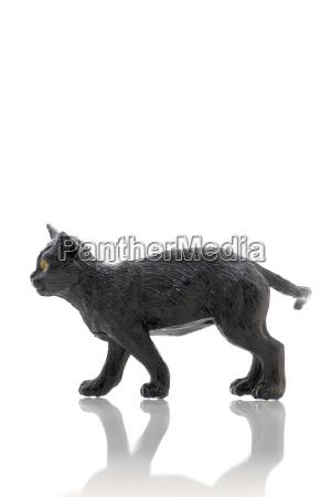 black plastic cat