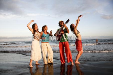 spain gran canaria young people dancing