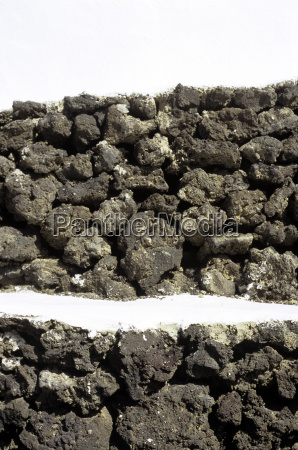 spain lanzarote wall from volcanite close
