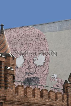 germany berlin kreuzberg house wall graffiti