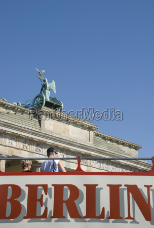 germany berlin brandenburg gate tourists on