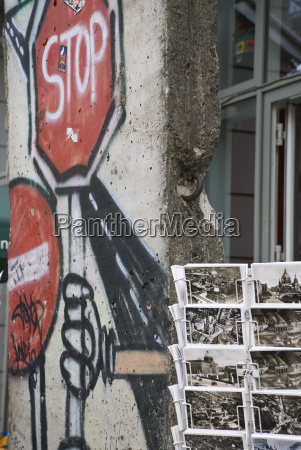 germany berlin house wall graffiti and