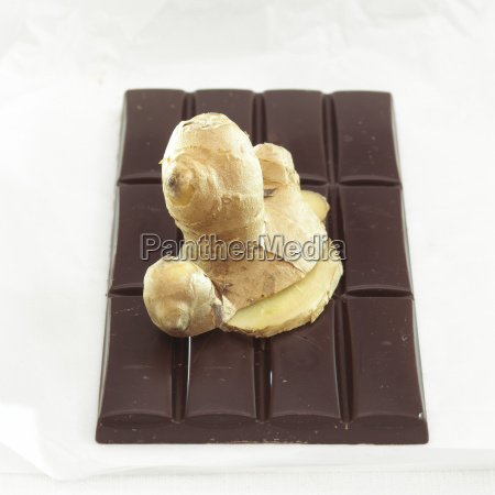 chocolate with ginger flavour close up