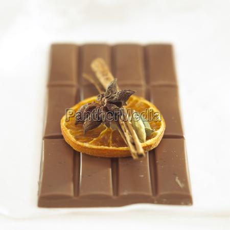 christmas chocolate close up