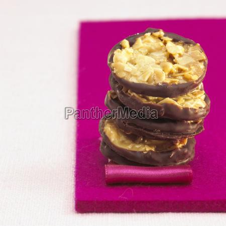 mandel-cookies, nahaufnahmen - 21183353