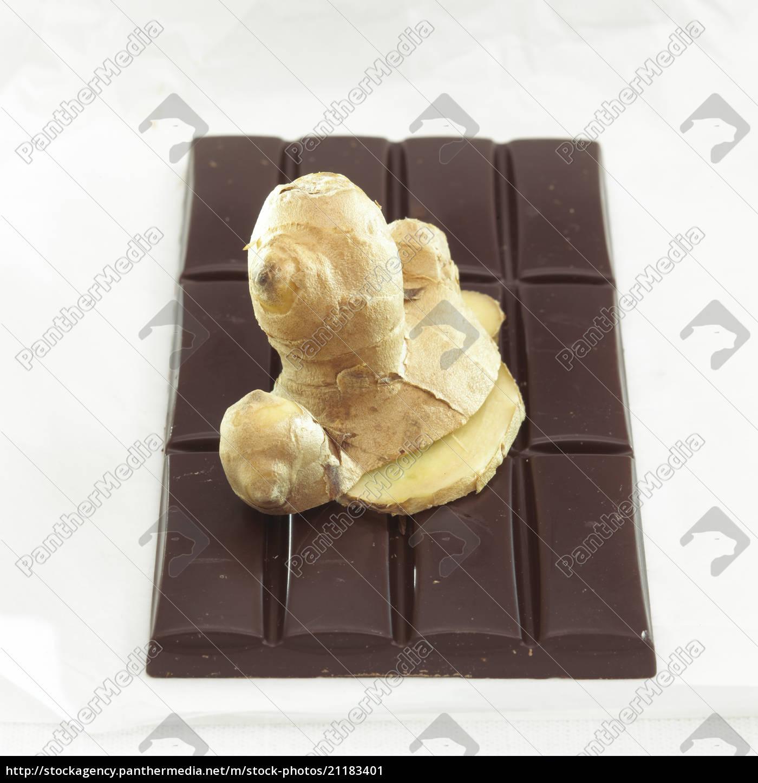 schokolade, mit, ingwergeschmack, close, up - 21183401