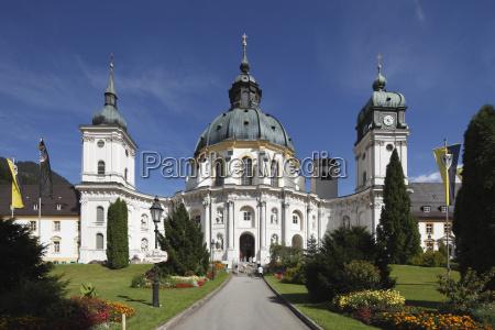 germany bavaria upper bavaria ettal courtyard
